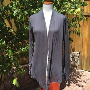 Gray Lightweight Open Front Cardigan Size S